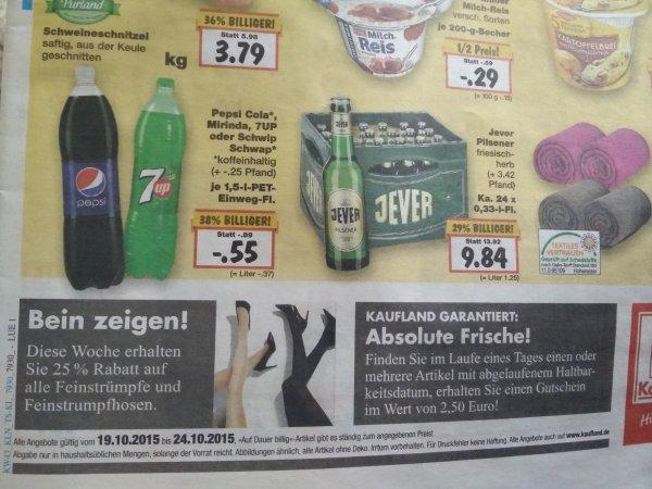 [Lokal Kaufland Lüneburg] Kasten Jever 24x0,33l für 9,84€