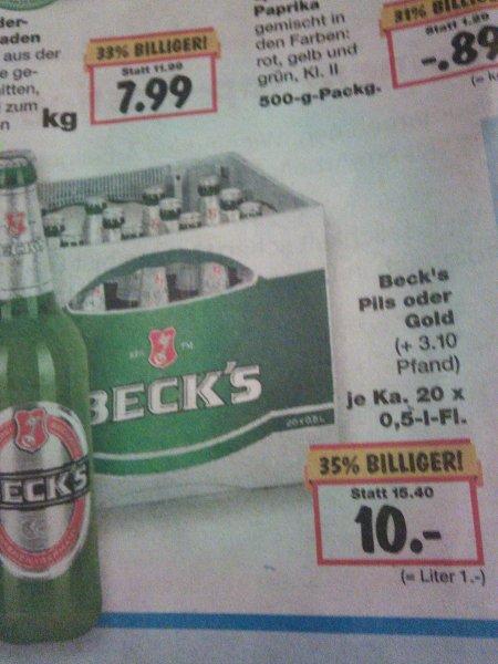Beck's 20x0,5 Liter Kasten @ Kaufland nur 10€
