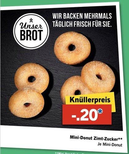 [Lidl] Mini-DONUT Zimt-Zucker für 0,20 ab Donnerstag 22.10