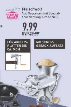 [Marktkauf Münster] Perfekt für die Weihnachtszeit - Fleischwolf mit Spritzgebäckaufsatz für 9,99€