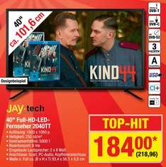 "[Metro] Jay-tech 40"" Full HD LED TV für 218,96"