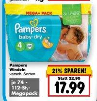 [KAUFLAND] Pampers Mega+ Pack für 13,99€ (Angebot+Coupon) zum Super-Weekend
