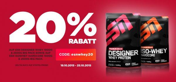 20% Rabatt auf ESN Designer Whey