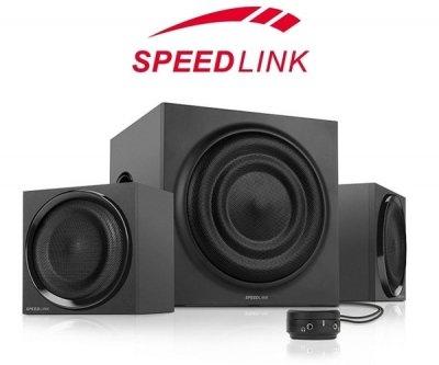 [One] Speedlink QUANUM 2.1 Subwoofer System schwarz 2.1