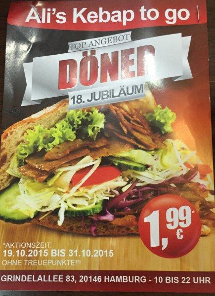[LOKAL HH GRINDEL] Döner to go bei Ali's Grillhaus 1,99 Euro