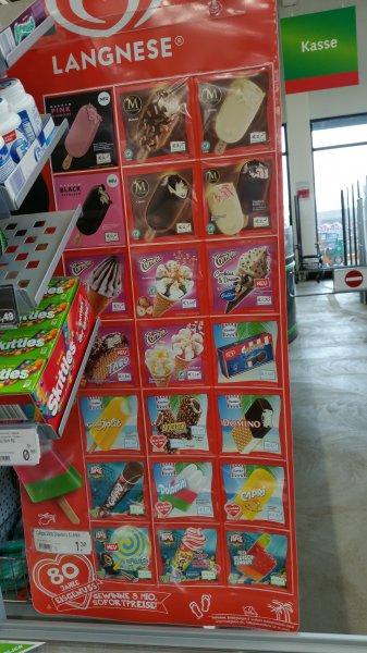 [Lokal Hanau - Kinzigbogen] 50 % Abverkauf Langnese Eis