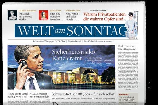 """4 Wochen """"Welt am Sonntag"""" gratis inkl. """"Die Welt digital"""" (selbstkündigend)"""