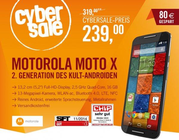 Motorola Moto X 2014 (2nd Generation) 16GB Speicher Cyberport Cybersale