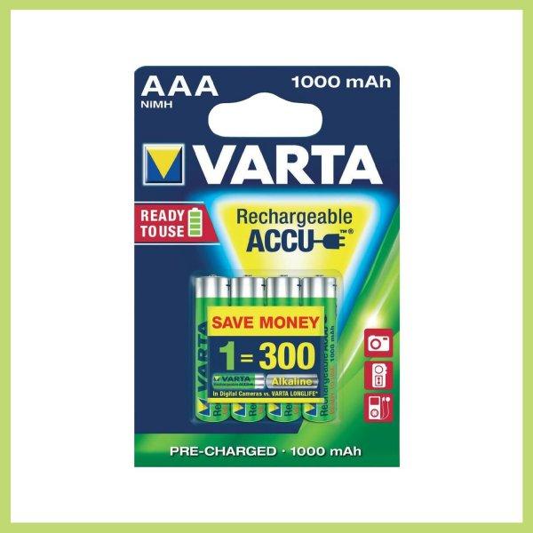 [Amazon.de-Prime]Varta Professional Akku AAA Batterie (1,2V, 1000mAh, 10x 4-er Blister)