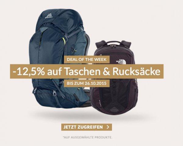 Engelhorn: 12,5% Rabatt auf ausgewählte Rucksäcke und Taschen von The North Face, Jack Wolfskin, Eastpak uvm. + 5€ Newsletter-Rabatt ab 50€