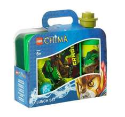 LEGO Legends of Chima Frühsstücksset mit Brotdose und Trinkflasche
