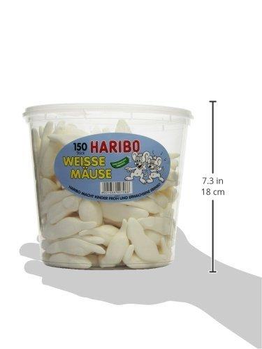 (Jawoll)XXL-Haribo Weisse Mäuse Dose 150 stk. für 5,55€