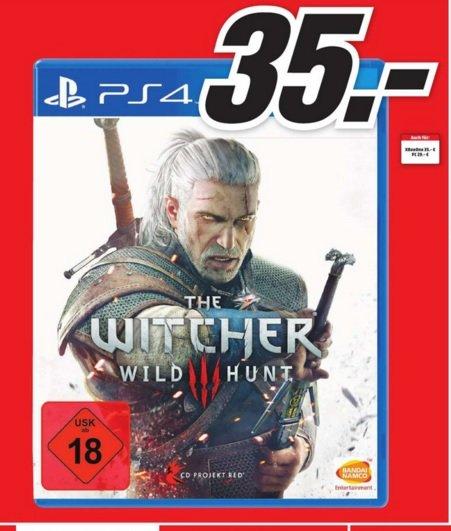 (Lokal) The Witcher 3: Wild Hunt (PS4) für 35€ @ Mediamarkt Koblenz,Neuwied