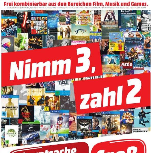[Mediamarkt] Nimm 3-Zahl 2 Aktion im Bereich Film,Musik und Games**Update Fallout 4 Bestandteil der Aktion*