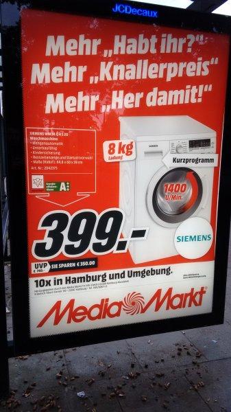 [Lokal] MM Hamburg, Siemens MW14Q4S20 Waschmaschine 8 kg