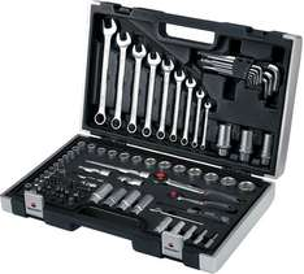 """[Voelkner] Toolcraft Steckschlüsselsatz 6,3+10mm(1/4""""+3/8"""") (92-teilig)"""