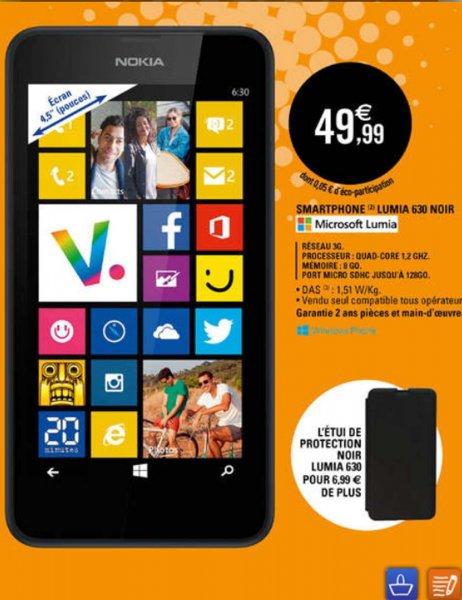 [Grenzgänger FR - E.Leclerc] Nokia Lumia 630 Schwarz 49,99€
