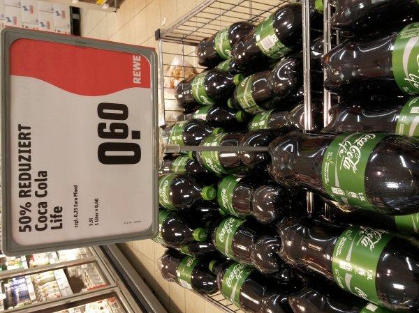 [Lokal Köln Braunsfeld] REWE: Coke Life 1,5l für 60 Cent