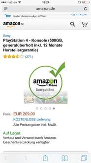[Amazon] PlayStation 4 500GB generalüberholt