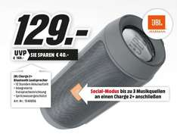 [Lokal Mainz] Media Markt: JBL Charge 2+