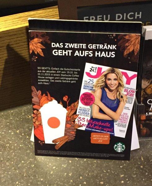 [JOY-Zeitschrift-Novemberausgabe] 2 Getränke für den Preis von einem @Starbucks