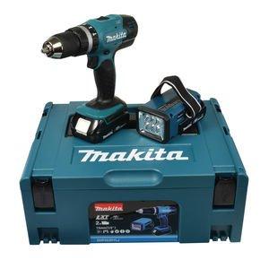 - Leider nur durch Finanzierung möglich, sorry -.- Makita DHP453RYLJ Akku-Schlagbohrschrauber 18 V Set inkl. Akkulampe für 124,89€