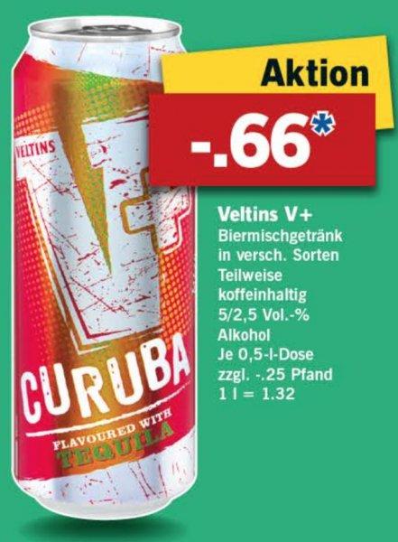 [Lidl/Bundesweit] Veltins V+ Dosenbier versch. Sorten 0,5L für 0,66€ ab 29.10.2015