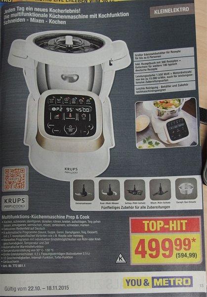 KRUPS Prep & Cook Multifunktions Küchenmaschine 594,99 Euro brutto (METRO)