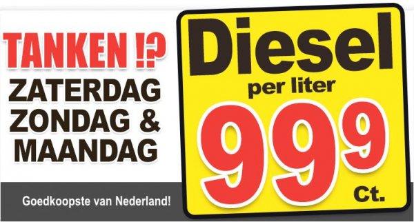 [Für Grenzfahrer: Terhuurne (Lokal, NL)] Diesel für 0,999€