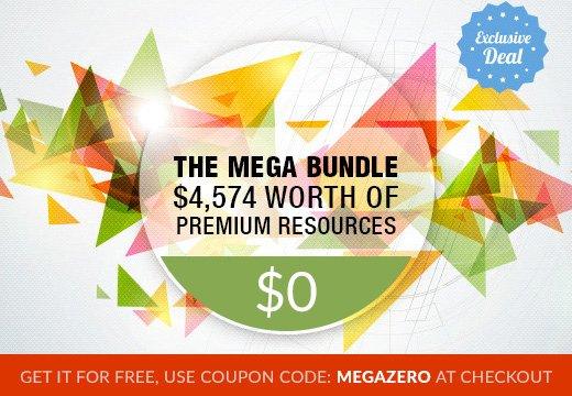 Mega Bundle mit Hunderten Vektorgrafiken, Designs, Web Elementen und mehr im Wert von 4,704$ GRATIS