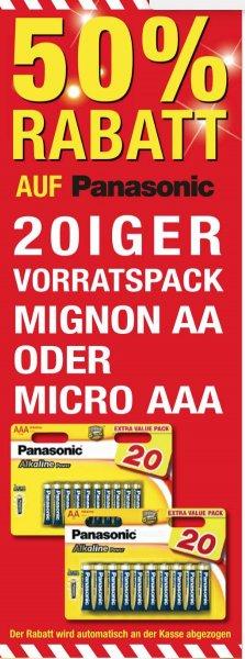 [Metro] Batterien AAA & AA 20er Value Pack Panasonic 5,94 € - brutto