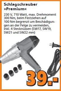 [Globus-Baumarkt] Schlagschrauber Premium 230 V für 39,00 Euro.