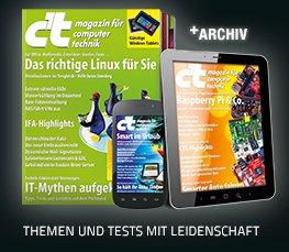 6x c't für 21,30€ mit 20€ Amazon Gutschein + Archiv Heft + Digital