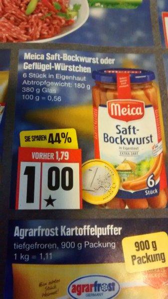 meica Bockwurst 380g 6 St. für 1€ ab Montag bei Edeka