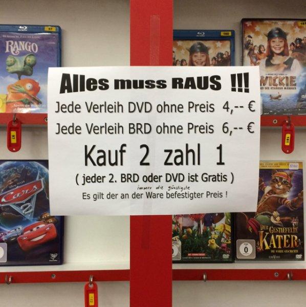 DVD BLU-RAY GAMES Ausverkauf
