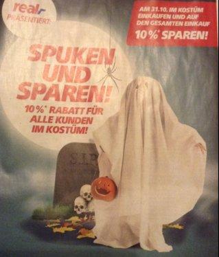 [Berlin] 10 % Rabatt bei Real [Kunden mit Kostüm] nur am 31.10.2015