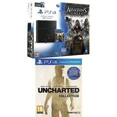 Sony Playstation 4 - 1TB Edition (Neue Version) + Assassin's Creed : Syndicate + Watch Dogs + Uncharted : The Nathan Drake Collection für 393,79€ bei Amazon.fr