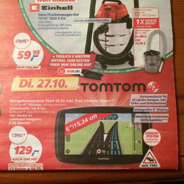 TomTom Start60 EU inkl. lebenslanger Kartenupdates für 45 Länder, NUR am 27.10.