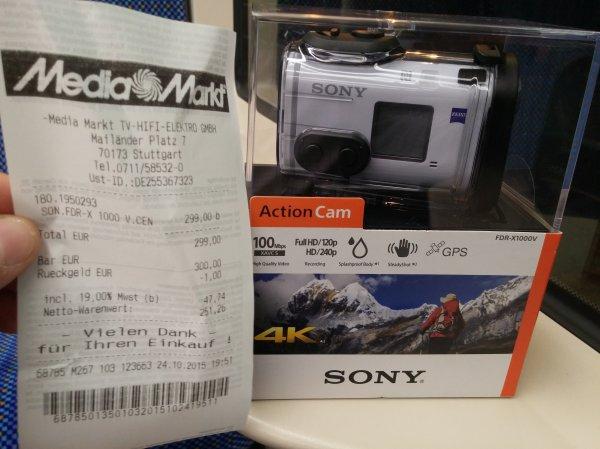 Sony FDR X1000V 299.- € Lokal MM Stuttgart-Milaneo
