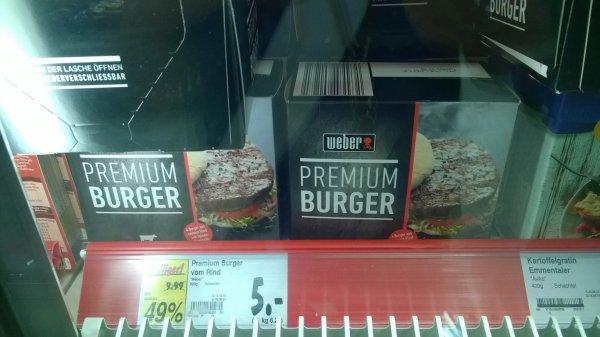 Lokal Weber Premium Burger vom Rind 1kg=6,52 Euro - Tiefkühlrindfleischpatties