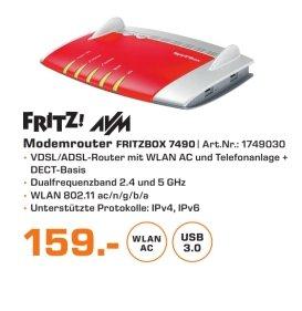 [Lokal Saturn Berlin-Marzahn] AVM FRITZBOX 7490 Wireless N Router/Modem 1300 Mbps 4-Port 100/1000 ADSL VDSL für 159,-€