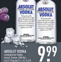 [EDEKA] 0,7L Absolut Vodka 9,99€