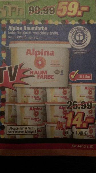 POCO Alpina Raumfarbe 10 L 14 Euro ab 26.10.2015