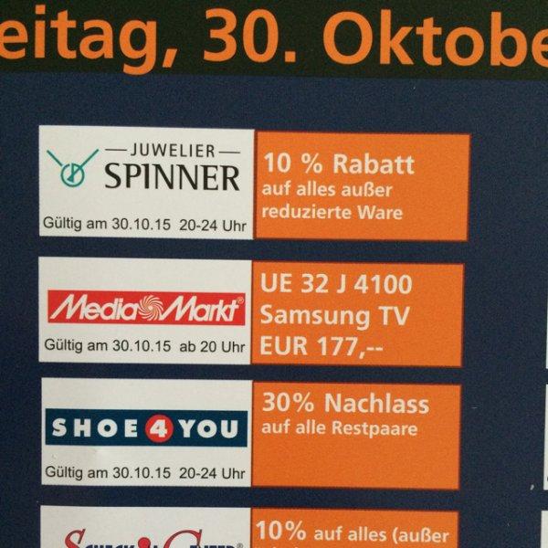 [Lokal Mediamarkt Baden-Baden] Samsung UE 32 J 4100 LED-TV für 177,00 €