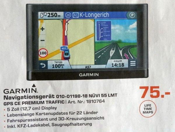 [Lokal Saturn Aachen] Garmin nüvi 55 LMT 52, 22 Länder, lebenslange Updates 75€