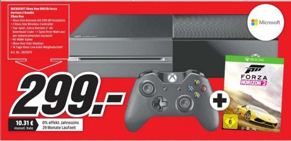 [Lokal Mediamarkt Porta Westfalica] XBoxOne + Forza Horizon 2 für 299,-€ und 50% auf ein 2te Game