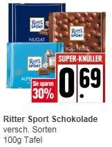 [Edeka] Rittersport 100g - 0,69€