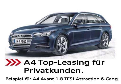 (Rosier) Leasing für Privat Audi A4 Avant 1.8 TFSI 199€ / Monat 170PS Vorführwagen