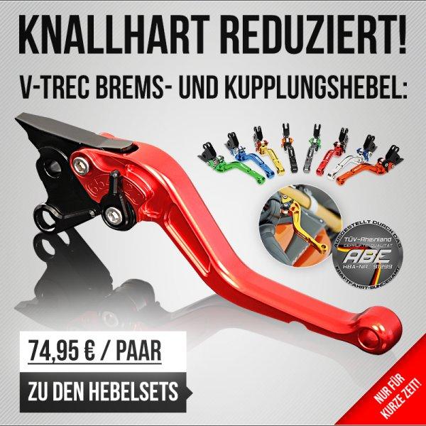 V-Trec Brems- und Kupplungshebel  für 74,95 € pro Paar