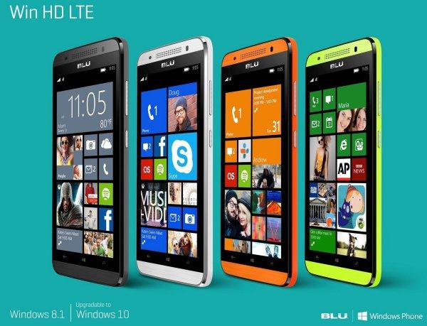"""BLU Win HD LTE 5"""" Windows Phone Amazon.fr alle Farben Blitzangebot bis 24:00 Uhr"""